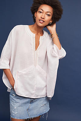 Slide View: 1: Martinique Linen Blouse
