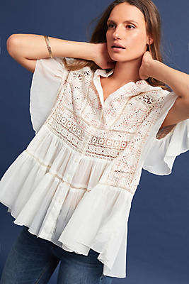 Slide View: 1: Lindy Popover Blouse