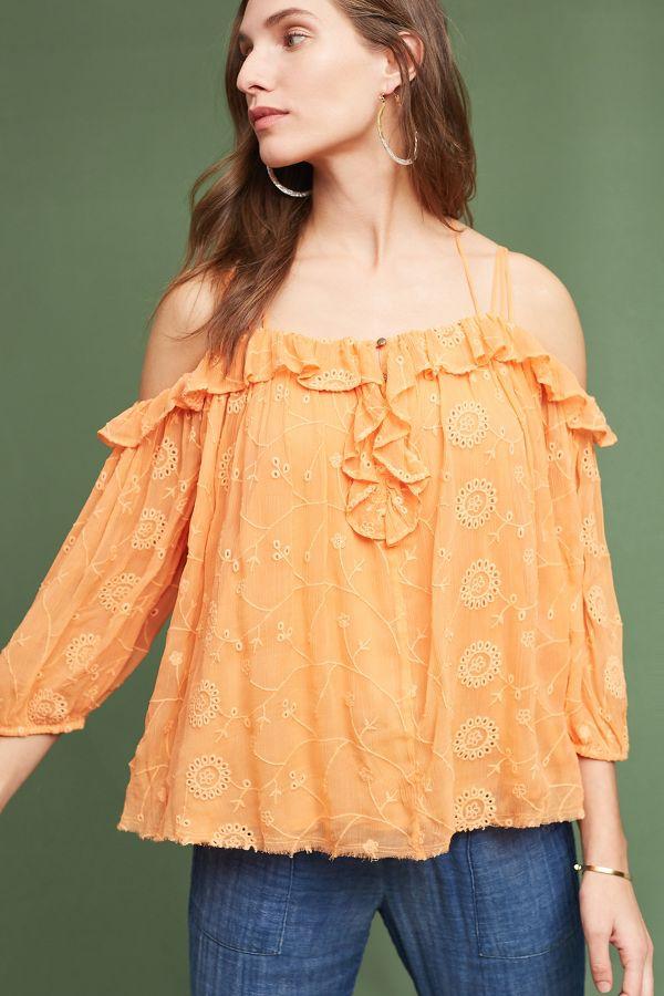 Floreat Maryana Open-Shoulder Blouse