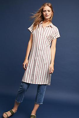 Slide View: 1: Arienna Striped Shirt