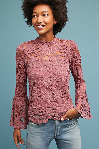 Bell-Sleeved Lacework Top