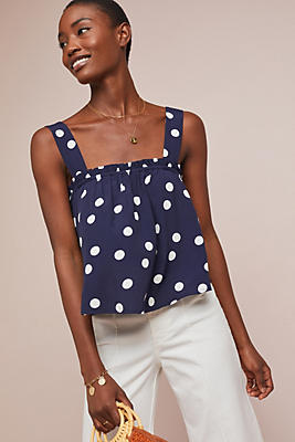 Slide View: 1: Polka Dot Swing Top
