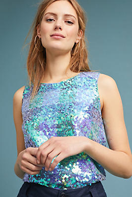 Slide View: 1: Amatheia Sequin Top