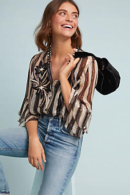 Slide View: 1: Shrie Striped Blouse