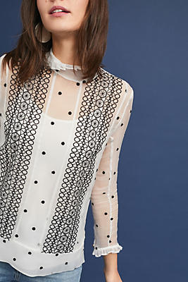 Slide View: 2: Lucy Polka Dot Top