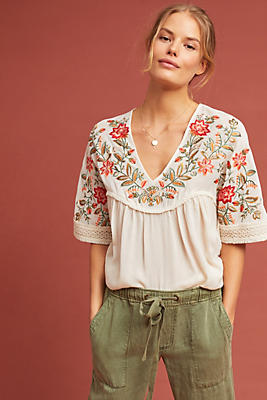 Slide View: 1: Jumel Embroidered Blouse