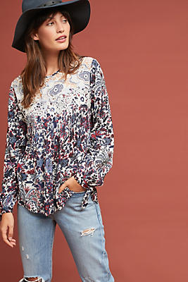 Slide View: 1: Madison Floral Blouse