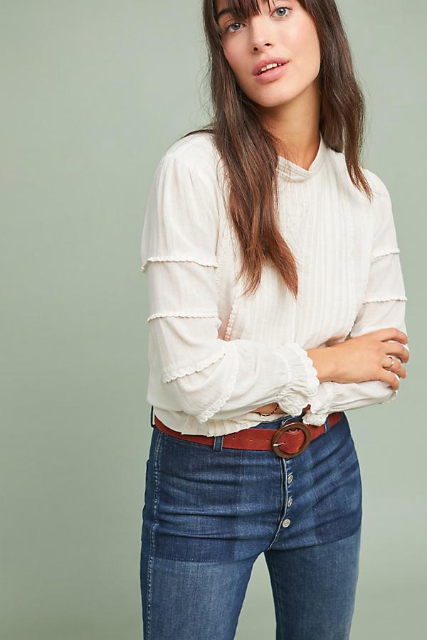 Priscilla Lace Blouse - White, Size Uk 6