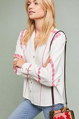 Slide View: 1: Stacy Embroidered Buttondown