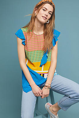 Slide View: 1: Spring Patchwork Blouse