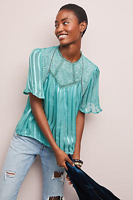 Slide View: 1: Rosiers Striped Blouse