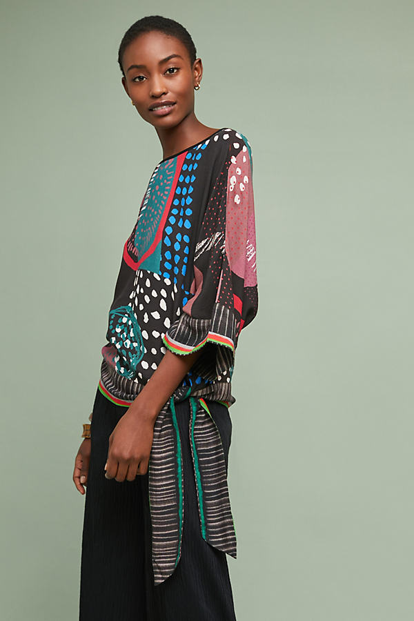 Octavia Printed Blouse - Assorted, Size M
