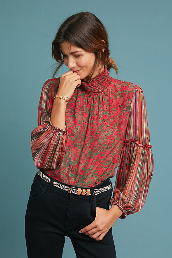 Mixed Motif Blouse - Assorted, Size Xs