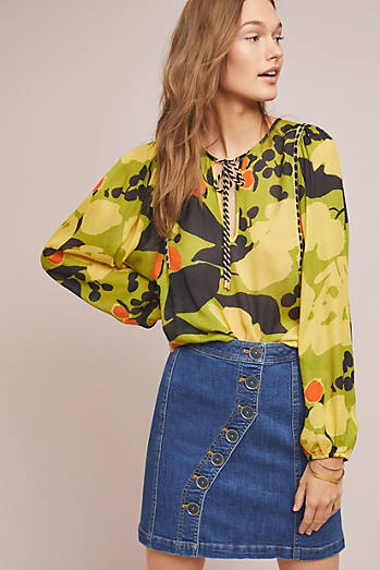 Yellow Blouses For Women Anthropologie