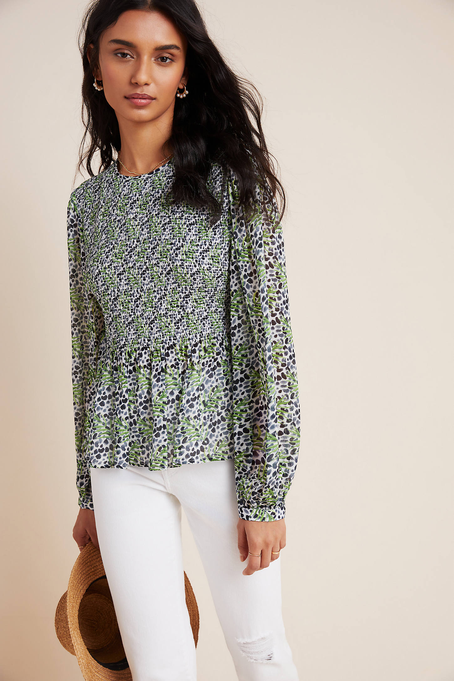 Bl-nk Cecile Smocked Blouse By  In Assorted Size S