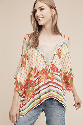 Azelie Open-Shoulder Blouse