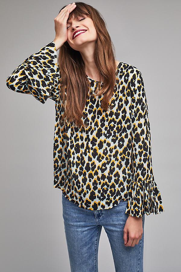 Serena Leopard Print Top - A/s, Size M
