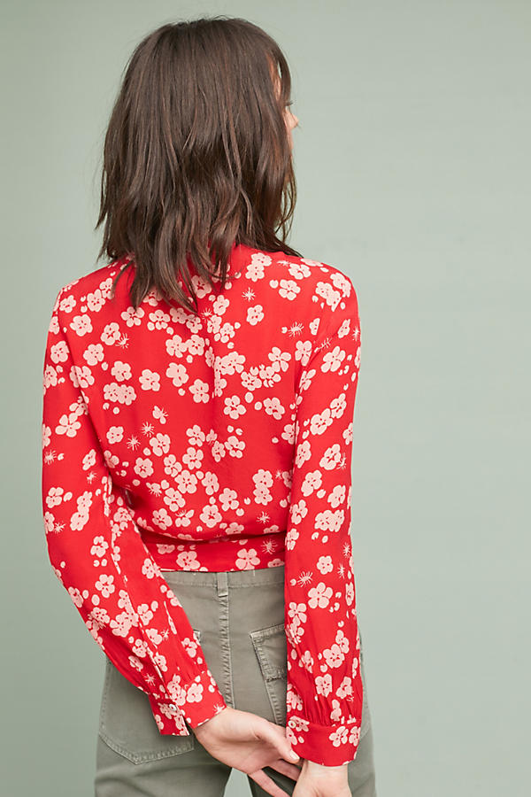 Slide View: 4: Agnisa Printed Wrap Blouse