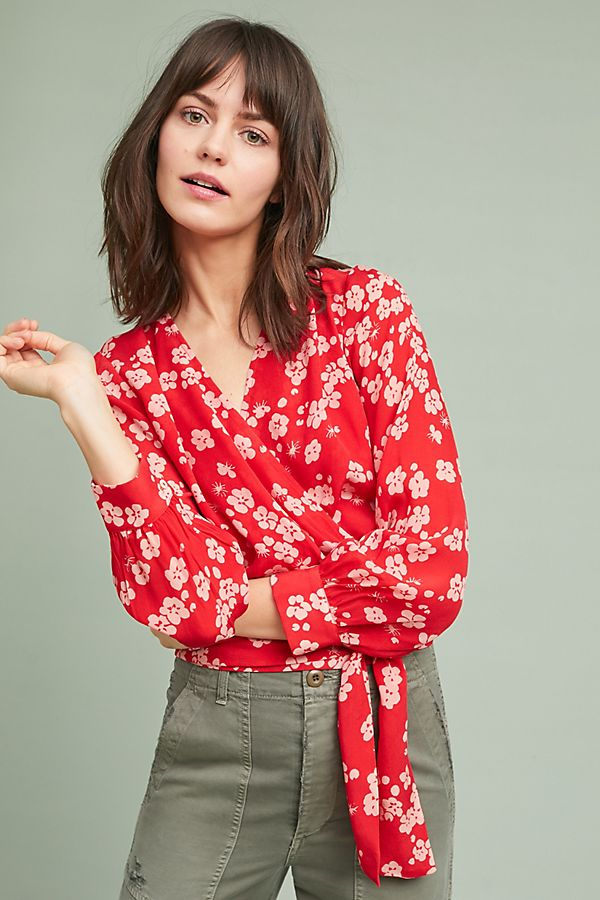 Slide View: 1: Cetona Wrap Blouse