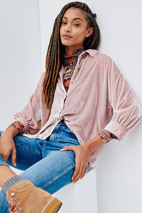 Pilcro Orsay Velvet Shirt