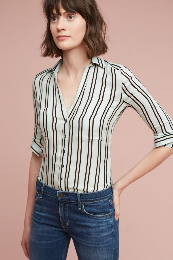 Seen Worn Kept Bold Stripe Buttondown