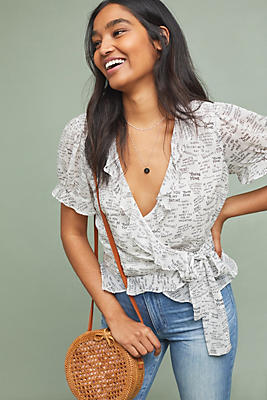 Slide View: 1: Love Note Wrap Top