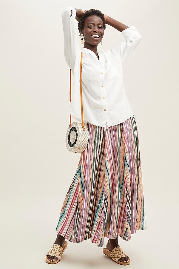 Philina Linen Shirt - White, Size Uk 10