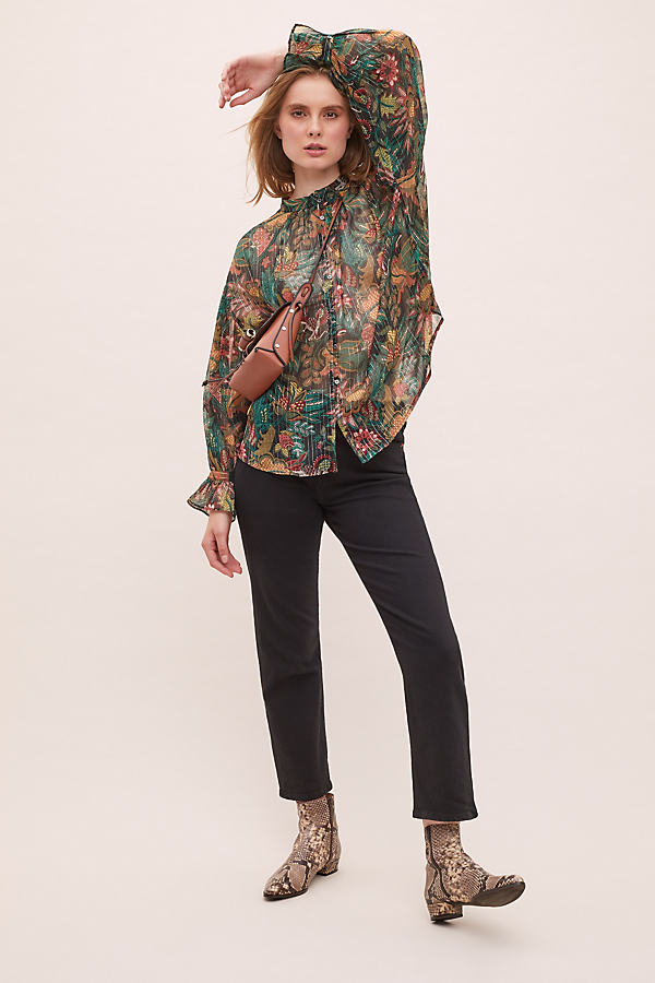 Maison Scotch Floral-Print Top - Assorted, Size L