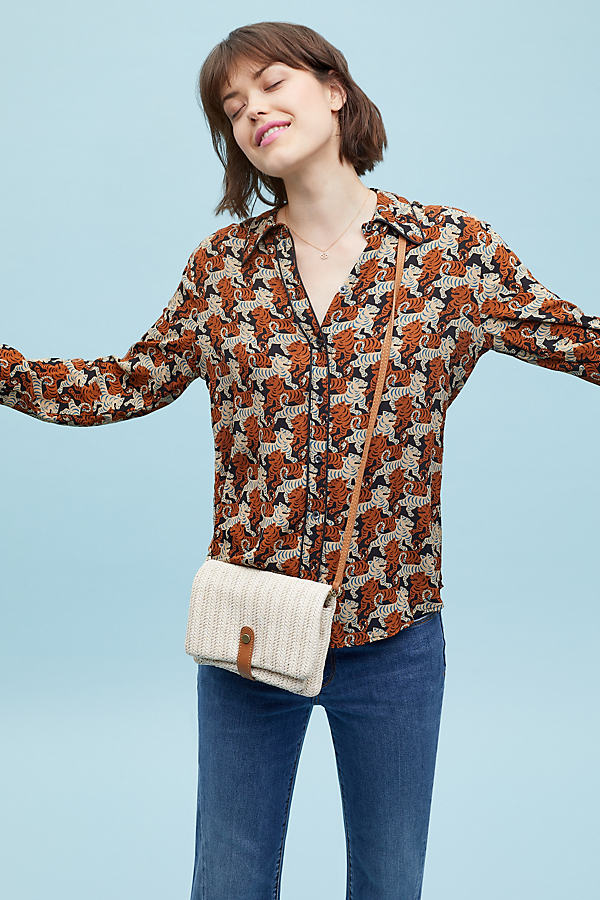 Brielle Tiger-Print Shirt - Assorted, Size Uk 10