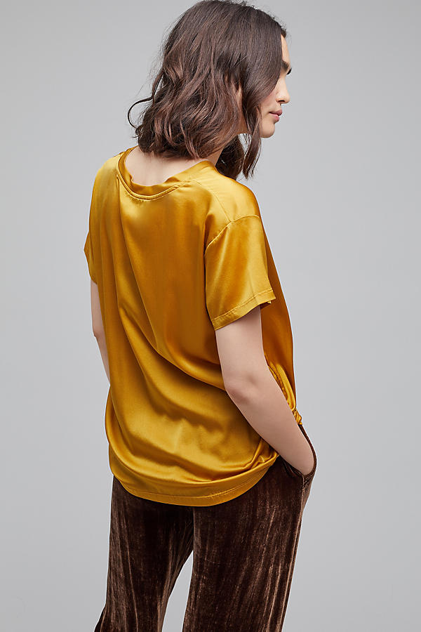 Slide View: 2: Petrea Satin Tee, Chartreuse