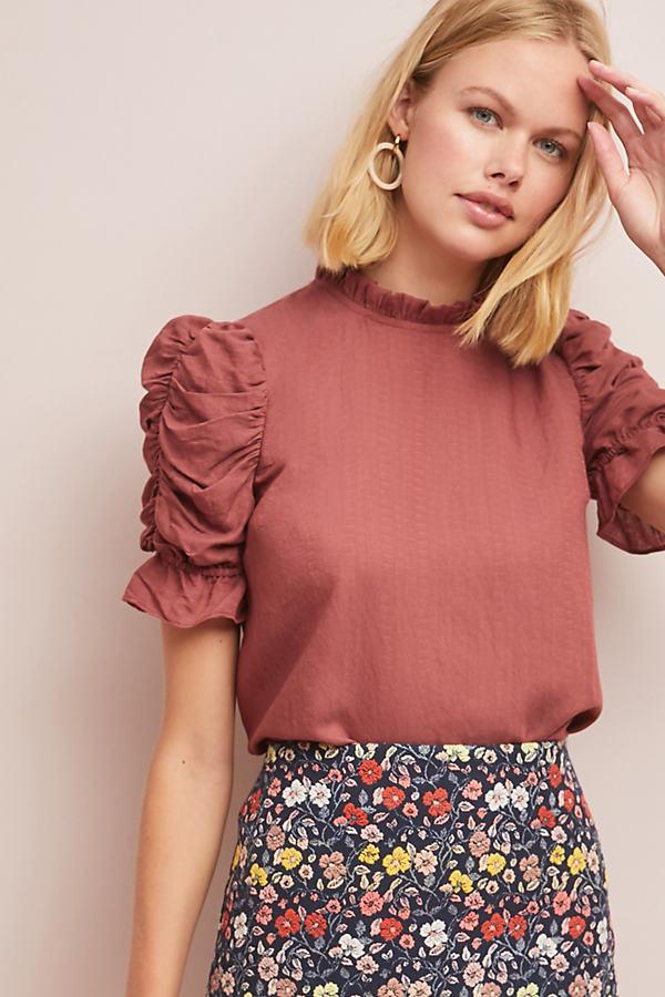 Maddie Textured Top - Pink, Size L