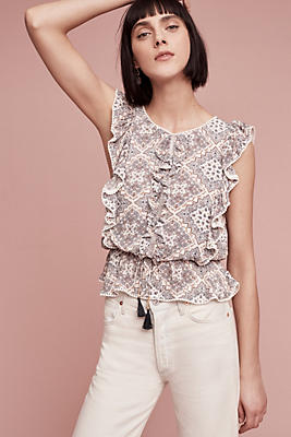 Slide View: 1: Ruffled Petra Blouse