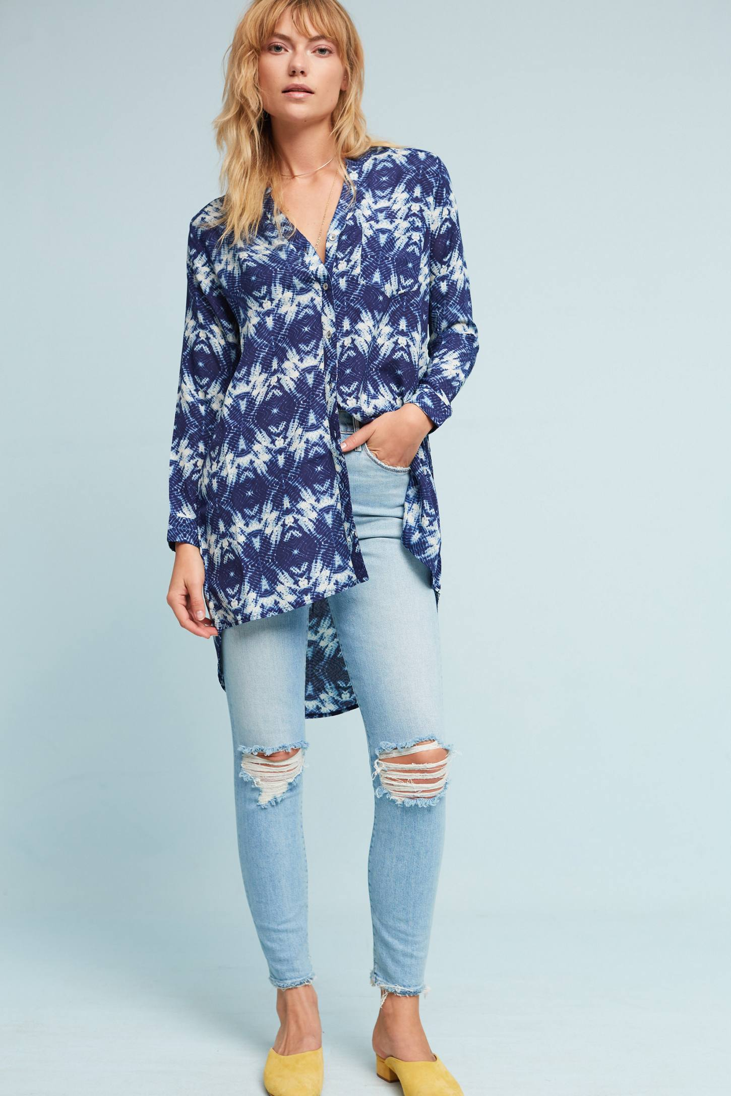 Slide View: 2: Olivia Silk Tunic
