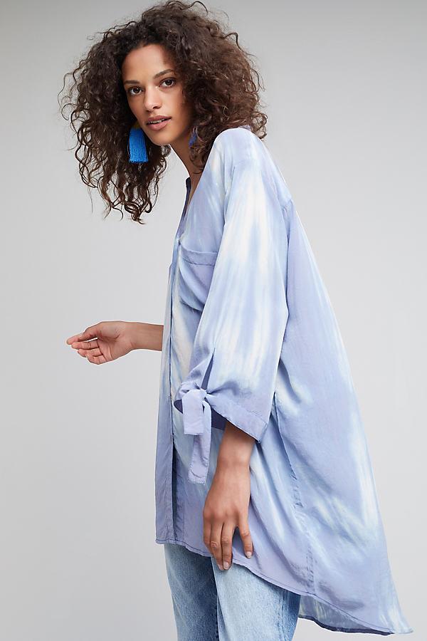Nyrobi Tie-Dye Shirt, Blue - Blue, Size Uk 6