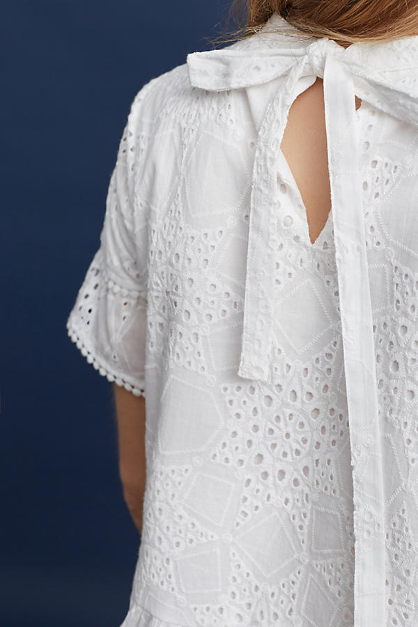 Slide View: 3: Emery Lace Top, White