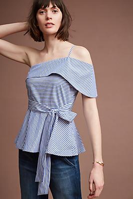 Slide View: 1: Mia One-Shoulder Blouse