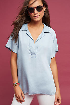 Slide View: 1: Edgewise Chambray Tunic