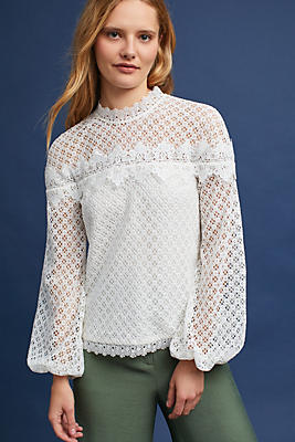 Slide View: 1: Florence High-Neck Top