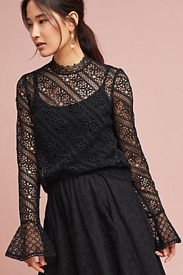 Slide View: 1: Maggie Lace Top