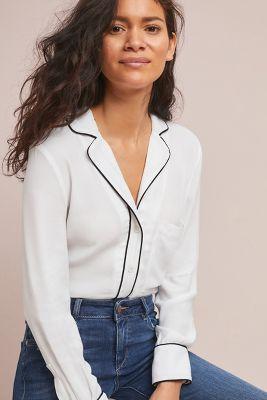 McGuire   McGuire Rossi Pajama-Style Top  -    WHITE