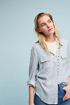 Slide View: 1: McGuire Chambray Eyelet Top