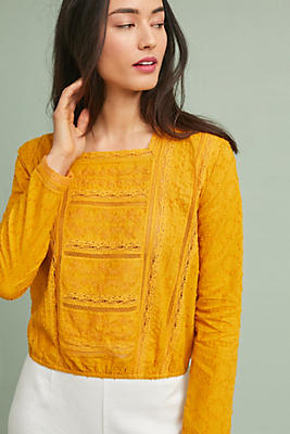 Slide View: 1: Rani Lace Pullover