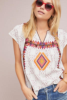 Slide View: 1: Dorian Embroidered Top