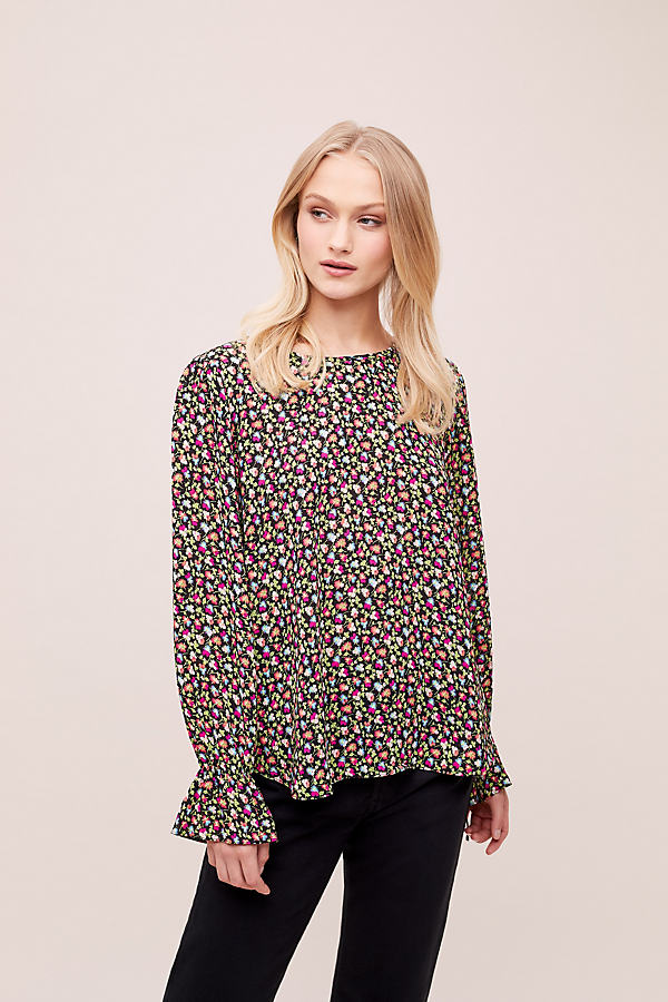 Essentiel Antwerp Alde Floral-Print Top - Assorted, Size Uk 12