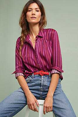 Slide View: 1: Lustered Buttondown