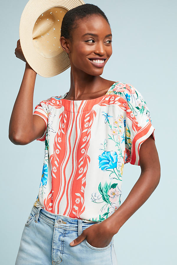 Romina Scarf-Printed Top - Assorted, Size Xs
