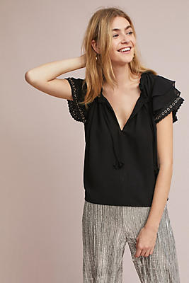 Slide View: 1: Galia Ruffled Top