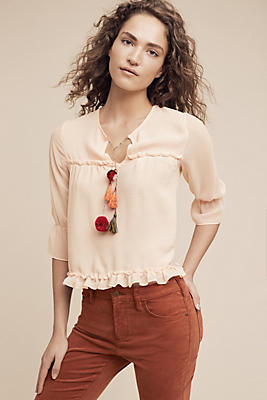Slide View: 1: Faye Tasseled Blouse