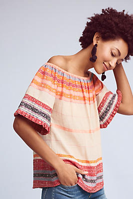 Slide View: 1: Petra Off-The-Shoulder Top