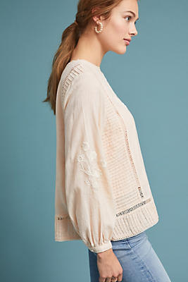 Slide View: 1: Jalessa Embroidered Blouse